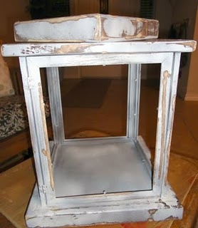 DIY lantern out of $1 store frames...you could do wood or metal...add a doorknob to the top, I'm making tons of these!!!