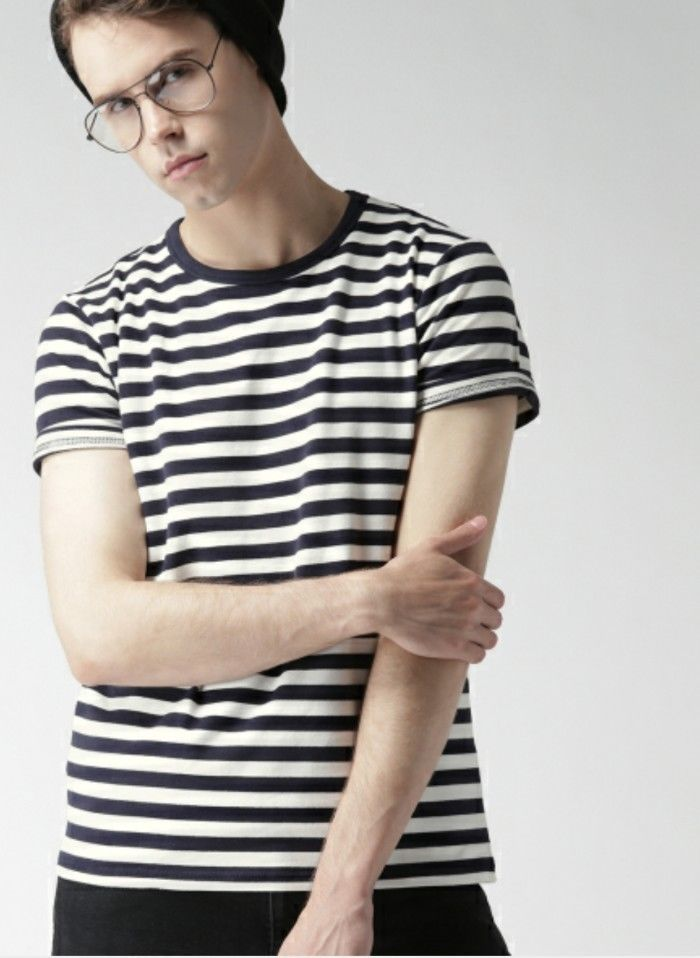Forever 21 Men Navy striped shirt
