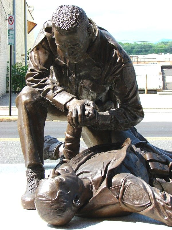 Officer Down Memorial... such a moving statue, great tribute to the fallen...
