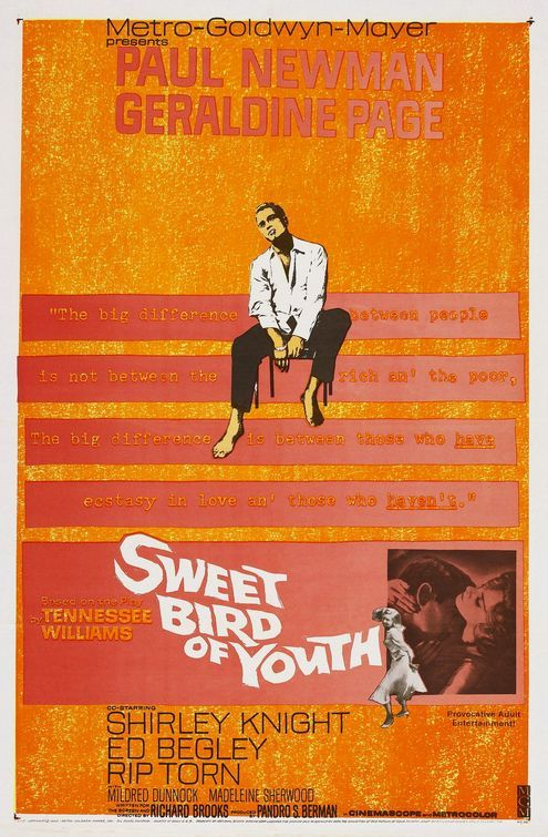 Sweet Bird Of Youth 1962 Wow Written By The Great Tennessee Williams