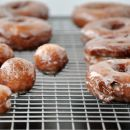 Glazed Sour Cream Doughnuts | Just a Taste