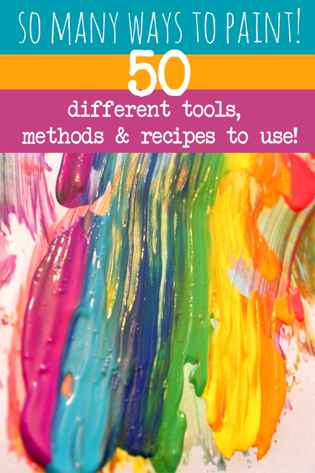 Painting Ideas For Kids With 50 Tools Methods Recipes 20 Must