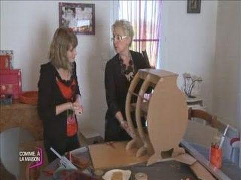 Explications rapides de la construction d'un meuble en carton. - Je crée mes meubles en carton (Comme à la Maison) - YouTube