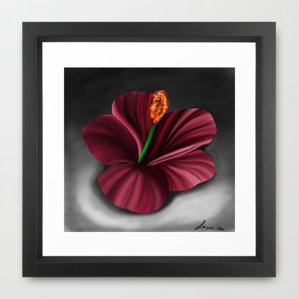 Fantasy Flower 2 Framed Art Print by M_Passions & Drawings | Society6
