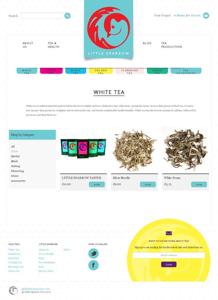 Cute eCommerce site 'http://littlesparrowtea.com/collections/