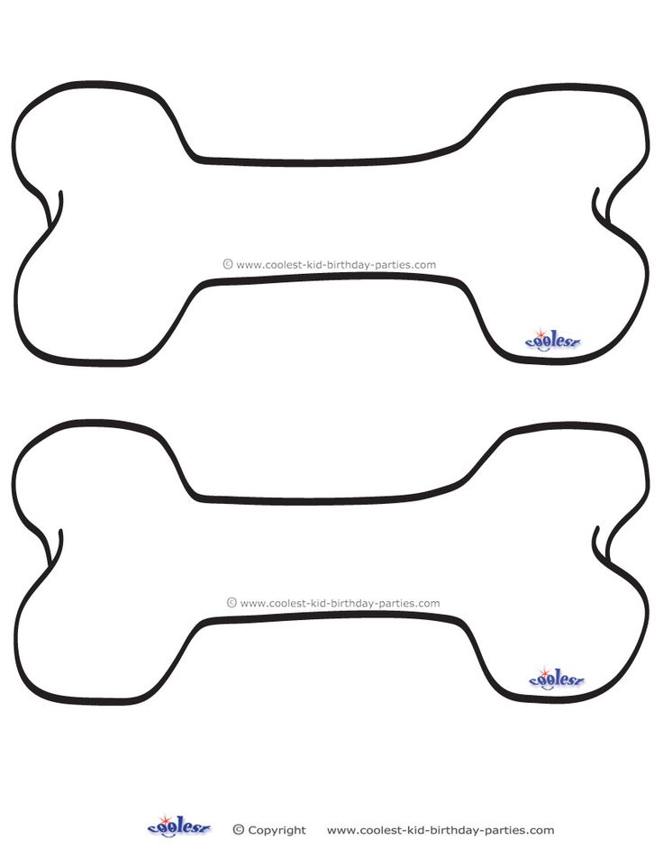 Free Printable Dog Bone Template