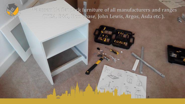 We assemble flat pack furniture of all manufacturers and ranges (IKEA, B&Q, Homebase, John Lewis, Argos, Asda etc.).