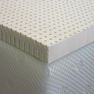 "The plush/firm mattress with a memory foam topper is recommended - the bed beneath the topper should keep your body correctly aligned. The topper is just meant for cozy comfort. ~ ~ ~ Latex Mattress Pad Topper Cal King 4"" Medium Firm Density, 100% Natural ErgoSoft Latex"