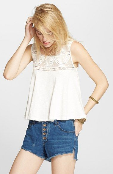 Free People 'Grandpa' Mesh Jersey Crop Tank available at #Nordstrom
