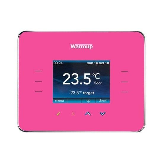 Warmup 3iE Energy-Monitor Programmable Thermostat Pink $199