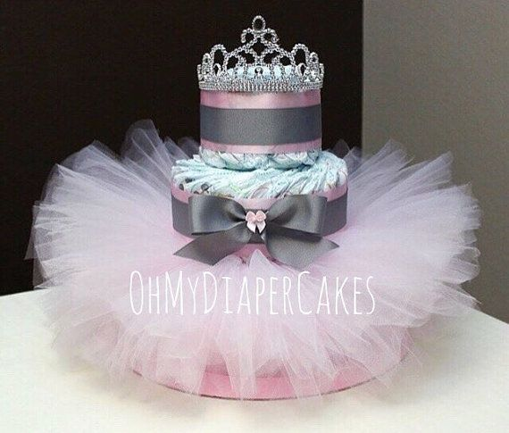 Nivel 3 pañales princesa pastel 2 estilos Tutu por OhMyDiaperCakes