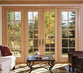 Pella Wood Hinged Patio Doors With Sidelights