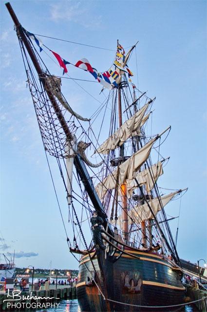A beautiful photo of the HMS Bounty in Halifax, Nova Scotia a few weeks before it sank in Hurricane Sandy - photo by Lisa Buchanan