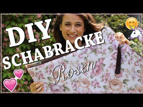 DIY SCHABRACKE selber nähen ✮ Blumenstoff / Rosenmuster ♥ Pimp my Schabr...