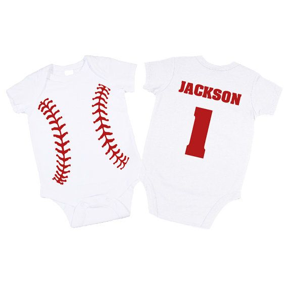16 best baby clothes images on pinterest babies clothes baseball personalized baseball bodysuit great baby shower gift 1st birthday present baseball boy clothes baseball bodysuit shirt avail negle Images