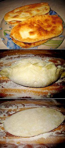 Тонкие жареные пирожки-лепешки с картошкой на кефире. Вкусный бабушкин рецепт | Мама знает...