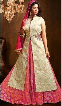 Beige Color Art Silk Achkan Style Wedding Lehenga Suit | FH505877152 #heenastyle , #boutique , #pakistani, #salwar , #kameez , #suit , #dresses , #styles , #fashion , #clothing , #henna , #designs , #mehndi , #more , @heenastyle , #party , #online , #abaya
