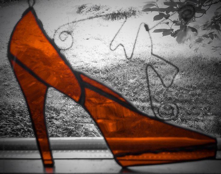 Glass shoes decoration