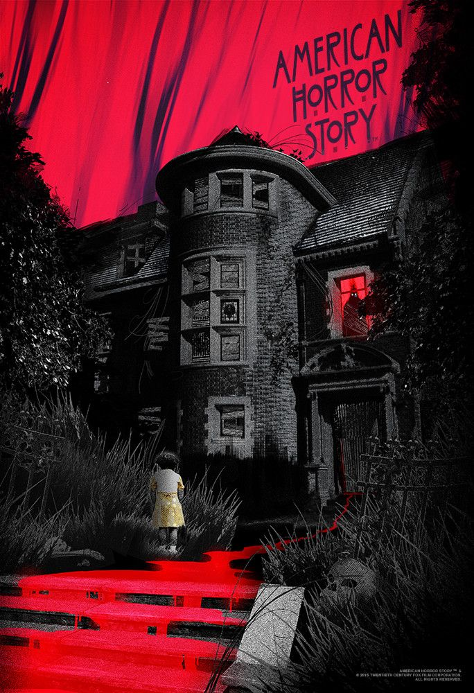 "- Inspired by American Horror Story: Murder House - Fine Art Giclee Print - Limited Edition of 50 - Approximately 13"" x 19"""