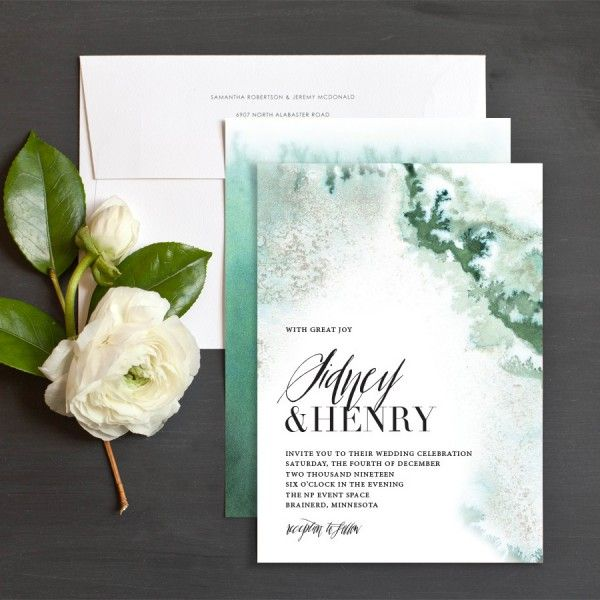 Painted Ethereal Wedding Invitations By Emily Crawford Elli Wedding Invitation Inspiration Beautiful Wedding Invitations Wedding Invitations