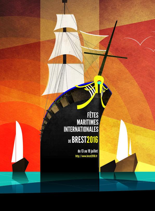 Poster for boat event in Brest. https://www.behance.net/gallery/28463985/Brest-2016