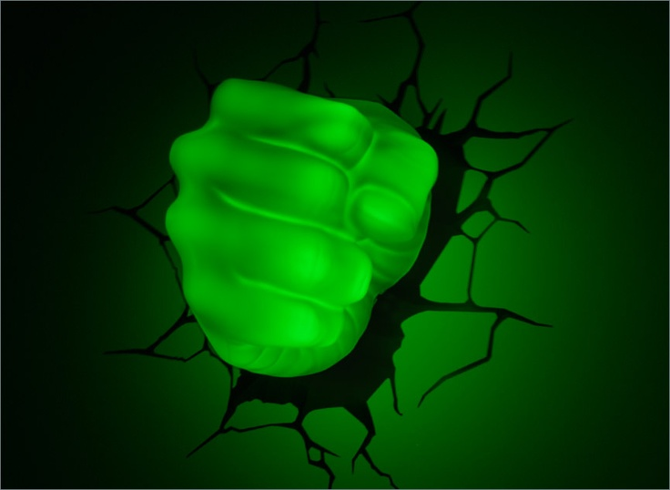 At night Avengers 3D Deco Light # Hulk Fist
