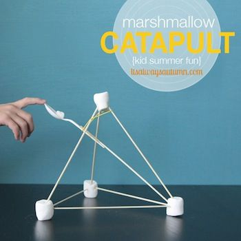 It's Always Autumn easy marshmallow catapults
