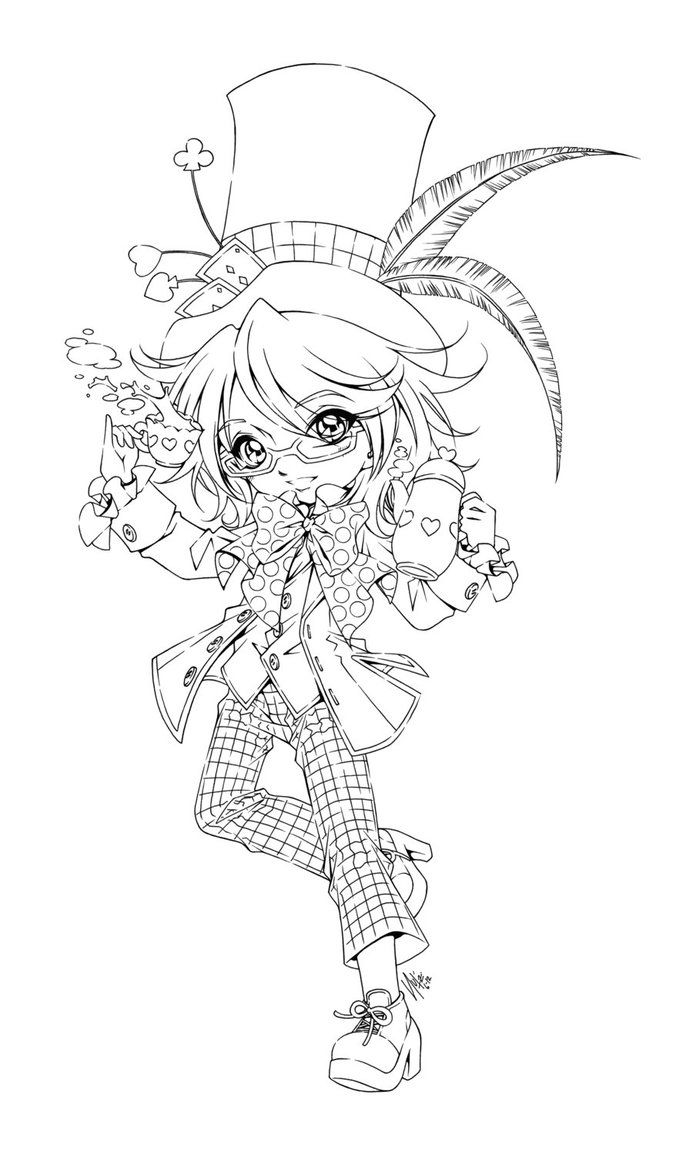 mad hatter coloring pages - photo#19