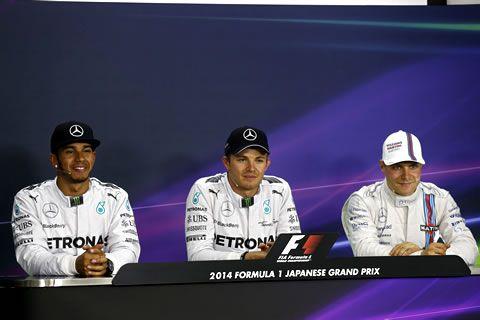 スパ-フランコルシャンと並んでチャレンジングと言われる鈴鹿。今年も、スペクタクルな予選だった。トップ3ドライバーの声を聞いてみよう。<会見参加ドライバー>ポールポジョン:ニコ・ロズベルグ(メルセデス)2位:ルイス・ハミルトン(メルセデス)3位:バルテリ・ボッタス(ウィリアムズ)◆信じられないくらいいいマシン(ロズベルグ)Q.ニコ、今年8回目のポール・ポジションです。ここではとても良かっ…