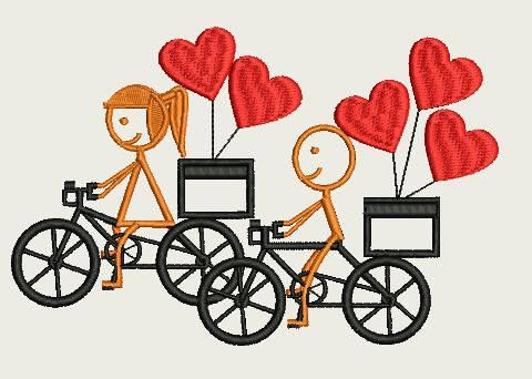 Riding Together in love ( 230 x 300  Hoop) by Judean888 on Etsy