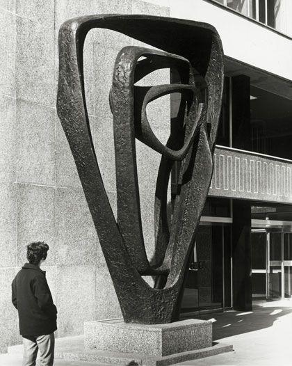 mid century sculpture by British artist Barbara Hepworth