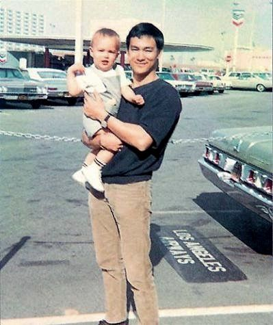 Bruce with first son Brandon Lee