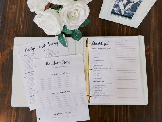 Printable Wedding Planner PDF Checklist Bride Checklists