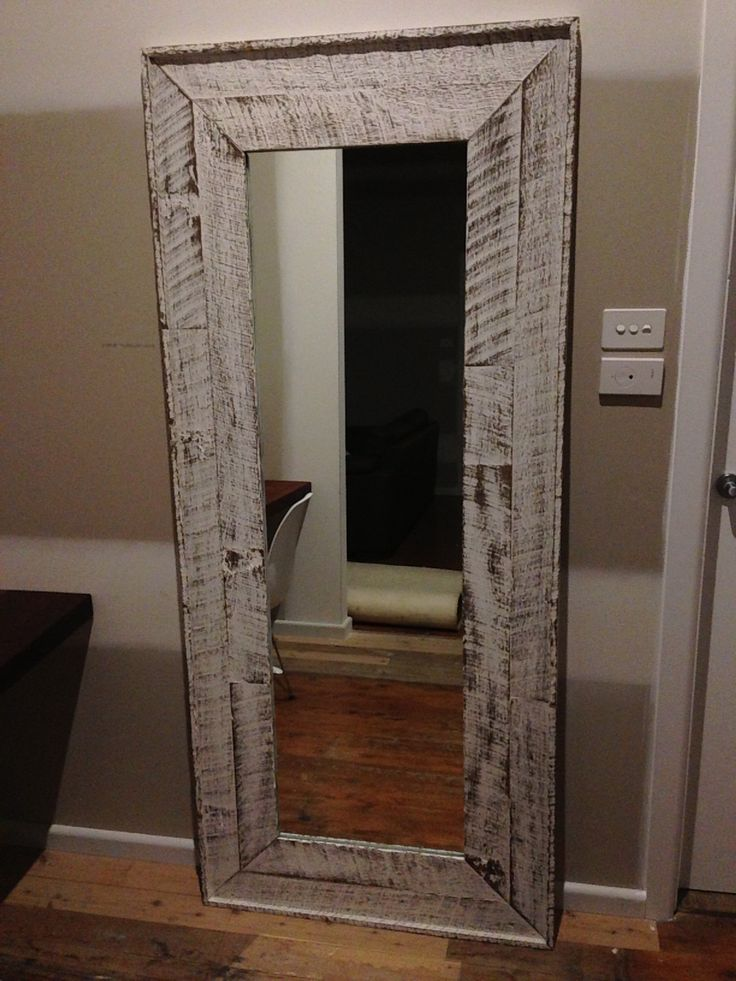 Pallet Wood Mirror Frame Diy