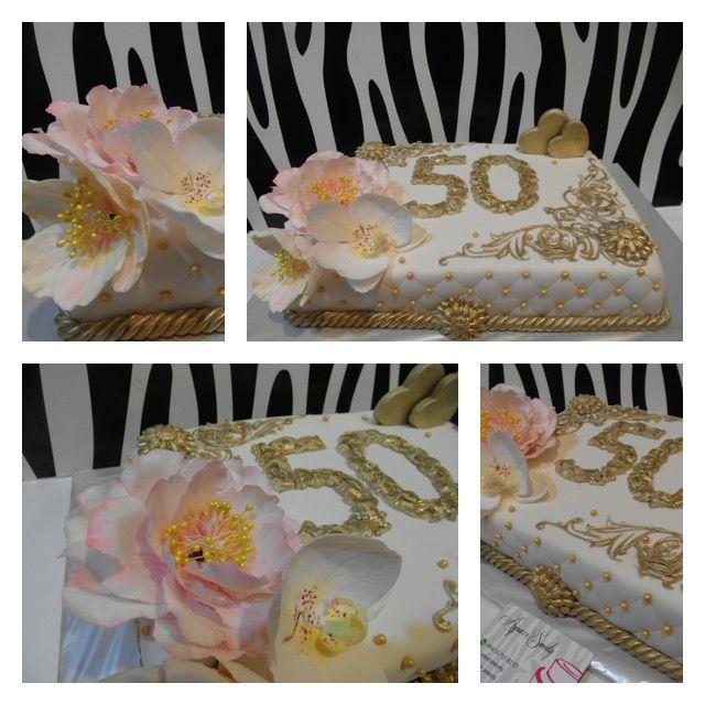 Торт золотая свадьба 50 лет
