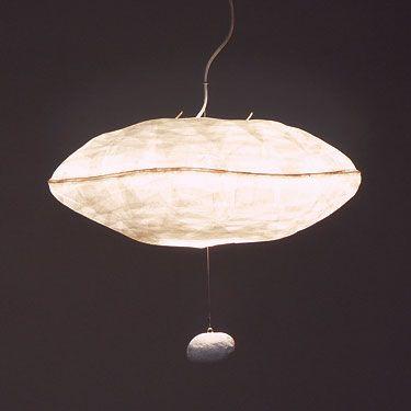 GIBOULÉE Suspension. Nuage de papier aux formes organiques et légères. Hanging lamp.Paper clouds with organic shapes.