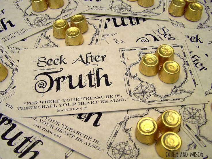 """""""For where your treasure is, there shall your heart be also."""" Matt 6:21. Seek after truth. It's not a Young Women's lesson without handouts 