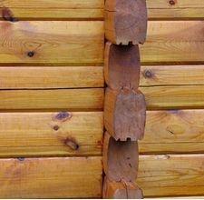 Faux Log Cabin Wall