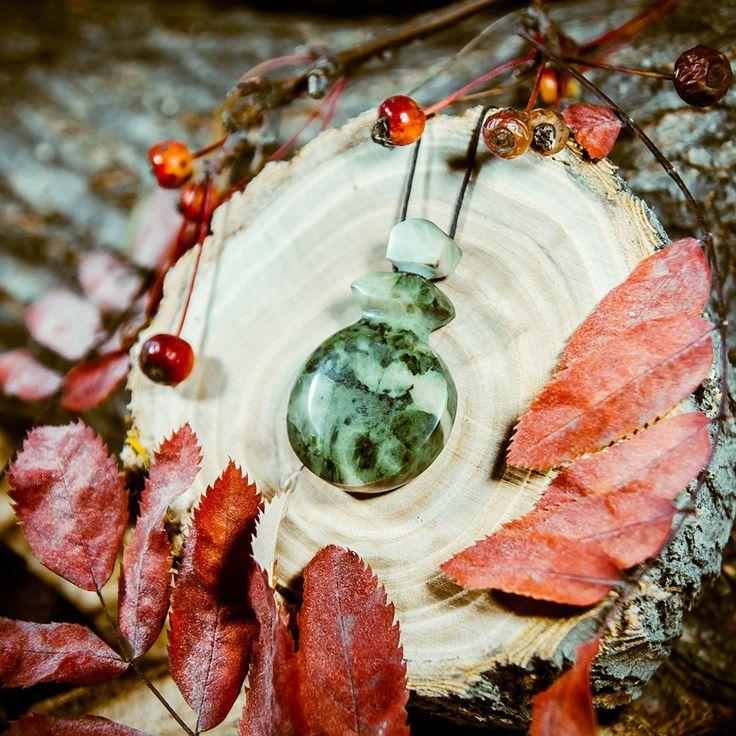 Ароматерапия Аромакулон из Яшмы. Подвеска. Распылитель Эфирное масло Натуральный камень. #A5 by ArtOfSIberia on Etsy