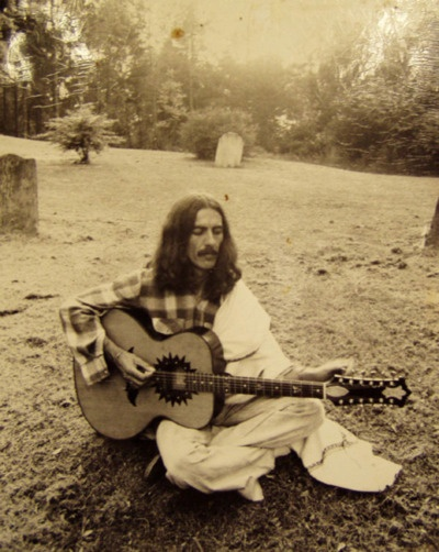 """Sometimes I feel like I'm actually on the wrong planet. It's great when I'm in my garden, but the minute I go out the gate I think, """"What the hell am I doing here?"""" --George Harrison"""