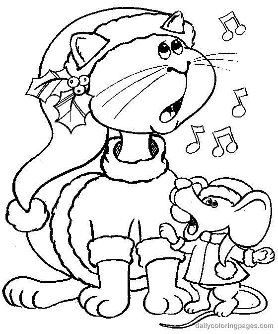 christmas-coloring-pages-carolers-004.png 560×671 pixels
