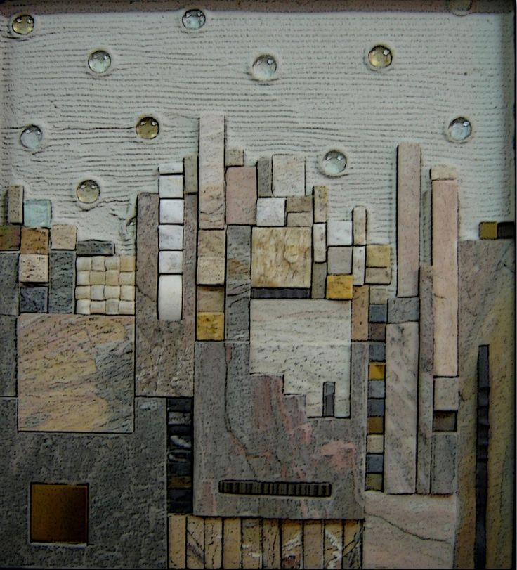 Mosaic Stone Cement : Mohamed banawy landscape  cm stone glass copper