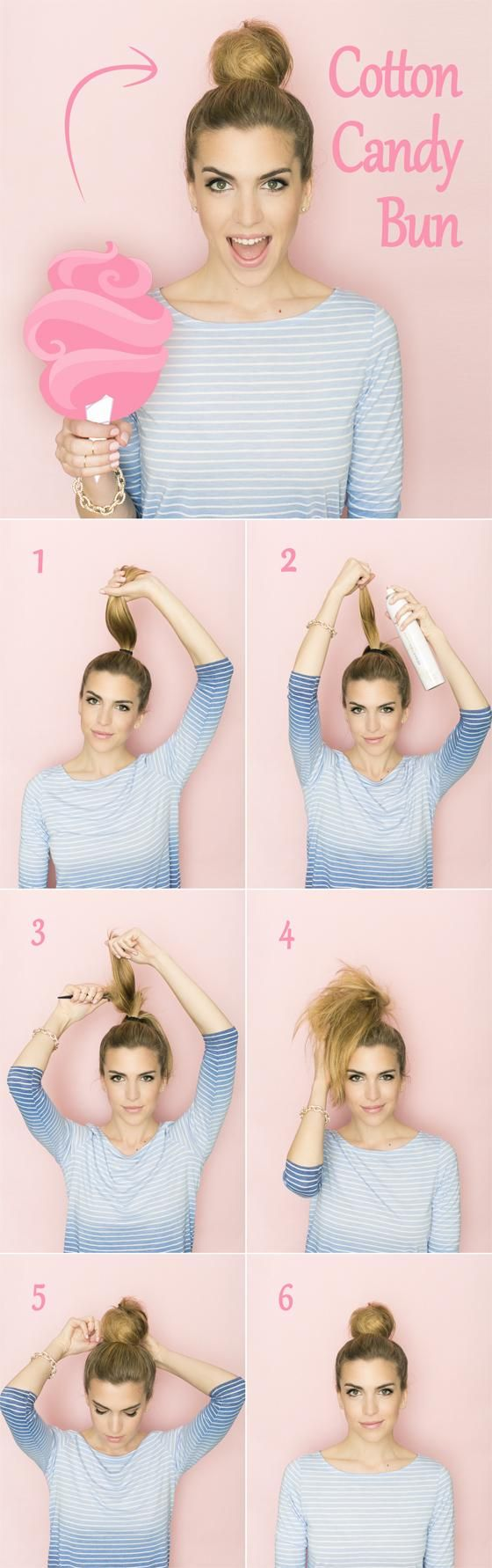 Hair Tutorial: Cotton Candy Bun