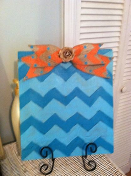 Chevron Picture Frame - Cottage Chic Picture Frame - Dorm Room Decor - College Dorm Room - Teen Girl Room Decor - Pic Decor - Recipe Stand