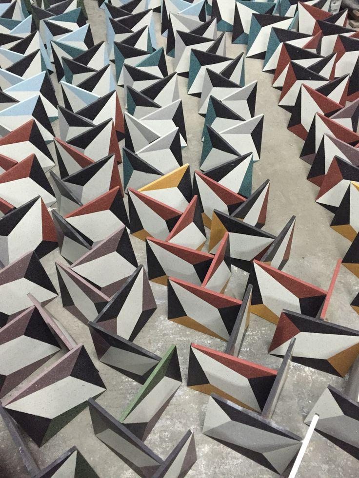 Grandinetti #terrazzotiles selection for #cersaie