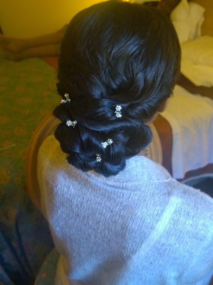 Afro american wedding hairstyle in Rome, Italy by Janita Helova  http://janitahelova.com/