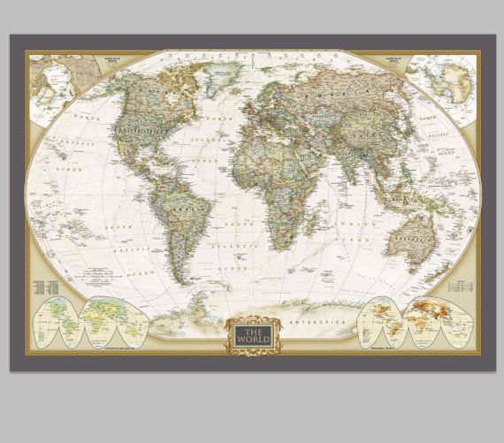 9 best world map cork board images on pinterest world maps cork custom single detailed map as bulletin board and by holycowcanvas gumiabroncs Gallery