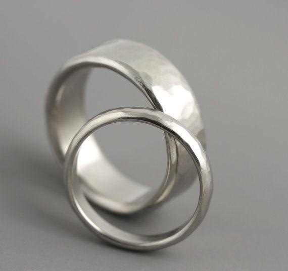 Woman's Palladium Wedding Ring Thin Wedding by SarahHoodJewelry
