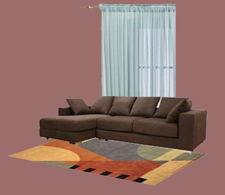 dark brown furniture blue curtain combo01