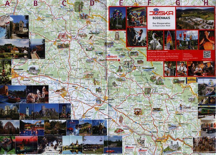 https://flic.kr/p/TbbenZ | Sehenswerte Freizeittipps, Bayerischer Wald; Natur-Freizeit-Kultur; 2015_2, map, Ostbayern, Bavaria, Germany